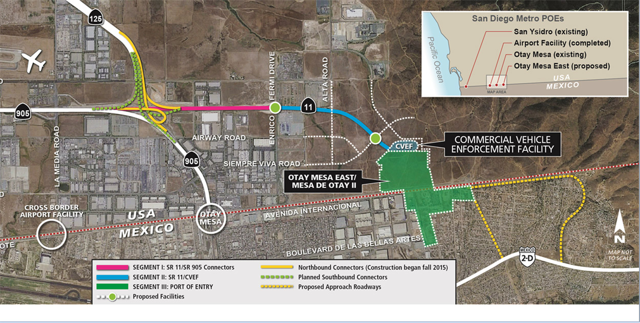 9.Develop innovative financing tools to self-finance near-term projects for the new border crossing at Otay Mesa East.